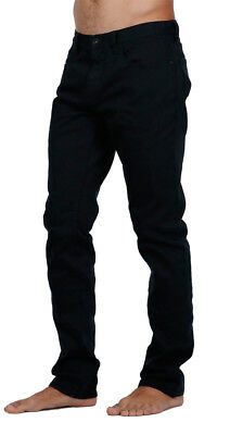 """Brand New + Tags Billabong Mens Jean Jeans 40 Inch """"outsider Slim"""" Black Stretch"""