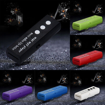 Fashion Mini USB Clip Digital Mp3 Music Sport Player Speakers 16GB SD TF Card