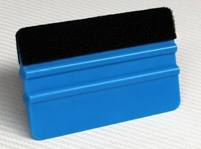 BLUE Pro Felt Edge Vinyl Car Van Bike Wrap Wrapping Squeegee Tool Scraper