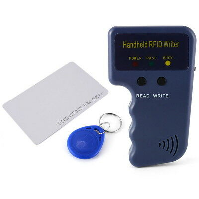 Portable Handheld RFID ID Card Copier Duplicator Reader Writer 5 Keyfob 5 Card