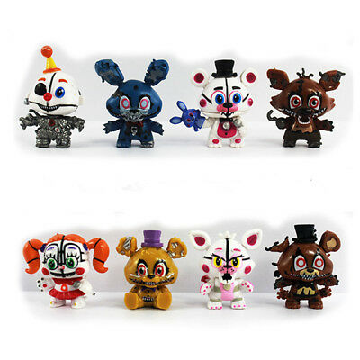 Five Nights At Freddy's Foxy 8 PCS FNAF Action Figure Cake Topper Kids Gift Toys