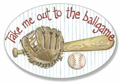 take me out to the ballgame oval wall plaque
