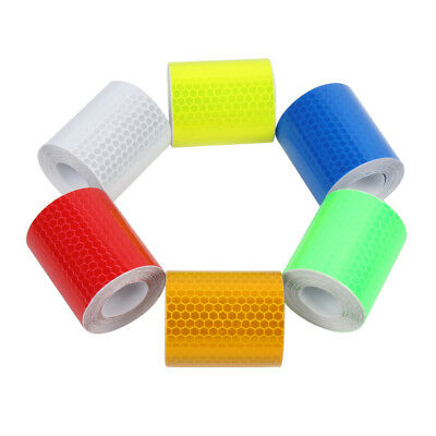 2 pcs Safety Warning Reflective Conspicuity Tape Adhesive Sticker Trucks Car