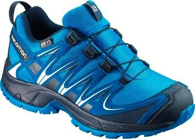 Salomon XA Pro 3D CSWP J Kinder Outdoor Hiking Wander Schuhe wasserfest blue NEU
