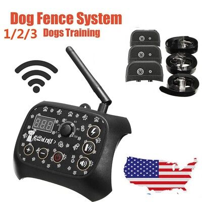Dog Training Wireless IP67 Fence Containment System Remote Control Rechargeable