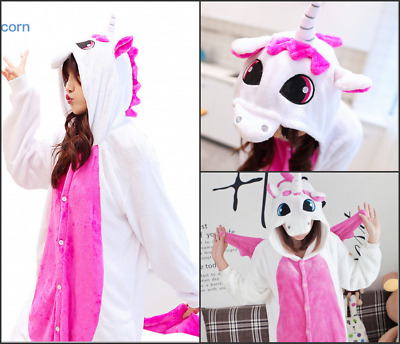 Kids/Adult Unicorn Flannel Onesie11 Cosplay Costume Kigurumi Pajamas Fancy Gift