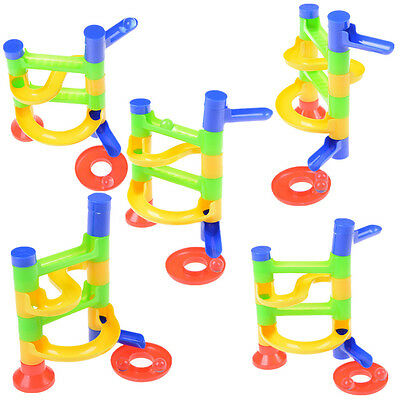 DIY Construction Race Run Maze Balls Track Building Blocks Educational Toy  RGe