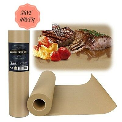 """Butcher Kraft Paper Roll - 18 """" x 175'' BBQ Food Grade acking wraping pape"""