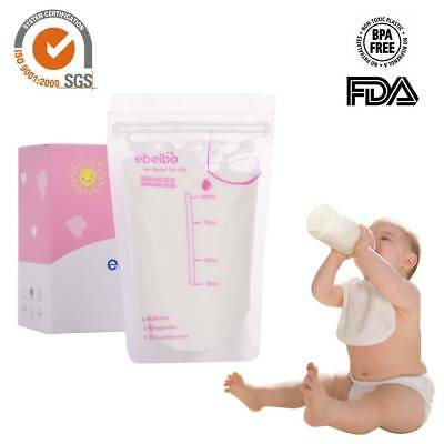 30Pcs 100ml Breast Milk Storage Bags Freezer Pre Sterilised Easy Seal Containers