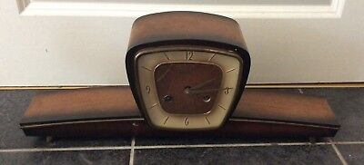 UNUSUAL SCHWEBEANKER VINTAGE MANTLE CLOCK please read description