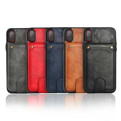Leather Credit Card Holder Slot&Combination Double Clasp Durable Protective Case