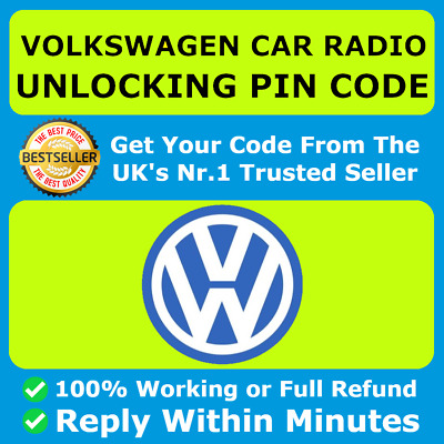 Vw Volkswagen Radio Code Unlock Code For All Models | All Rcd & Rns 300 310 315
