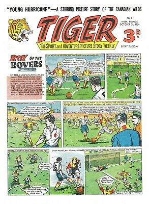 Uk Comics Tiger Plus Speed And Hurricane Collection Of 400+ Comics On Dvd