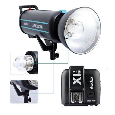 Godox QS800II 800W 2.4G Studio Flash Strobe + X1T-N Transmitter For Nikon  220V