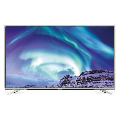 Sharp Aquos LC-49CUF8472ES UHD LED LCD Smart TV, silber
