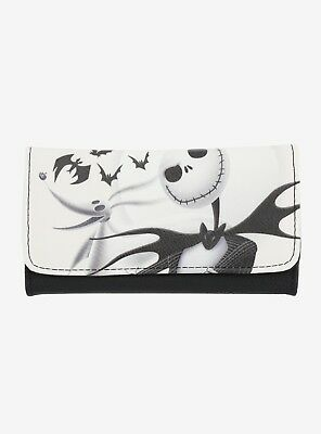 NWT, Loungefly The Nightmare Before Christmas Jack & Zero White Flap Wallet