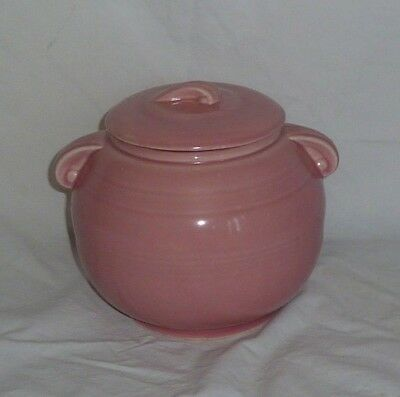 McCoy Pink Ball Jar with Cover U.S.A.