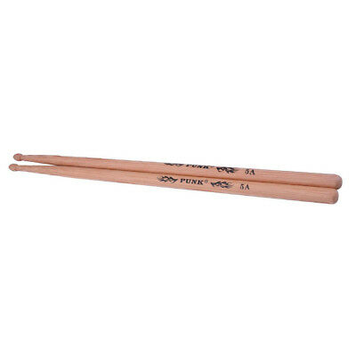 1 Pair Hickory Drum Sticks 5A Wood Tip Drumsticks for Beginner Students Gift