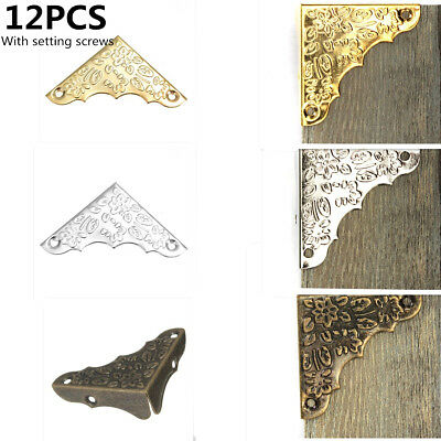 12Pcs Iron Jewelry Chest Wine Wood Box Picture Frame Corner Protector Guard 37mm