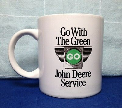 JOHN DEERE SERVICE MUG, GO WITH THE GREEN 13 oz. CUP, 1882 TRADEMARK