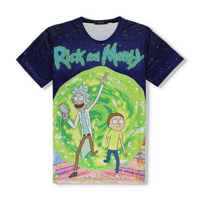 Anime Rick and Morty T-shirt Funny 3D Print Sport Short Sleeve Pullover Tee Tops