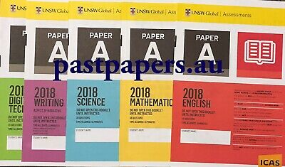 ICAS Year 3 (A) Past Papers lot - Maths English Science Spelling Digital Writing