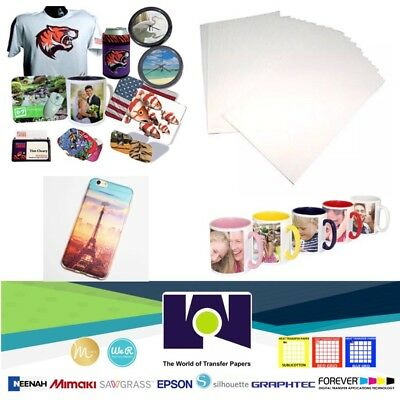 "100 Sheets 8.5x11"" Dye Sublimation Heat Transfer Paper for Mug Cup Plate T-Shirt"