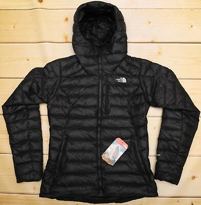 THE NORTH FACE MORPH HOODIE - 800 DOWN insulated WOMEN'S BLACK PUFFER JACKET - M