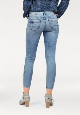Pepe Jeans London Ripple Skinny NEU W28 L32 Slim Damen Hose Stretch Denim  Blue 47b4d6786f