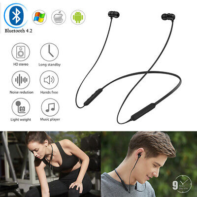 Active Noise Cancelling Wireless Bluetooth 4.2 Sports Earphones Earbud Headset