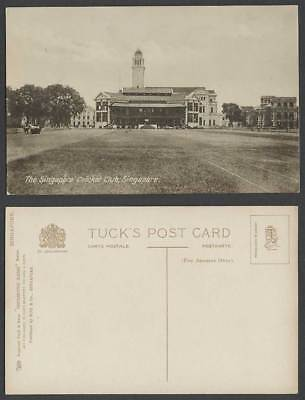 Singapore CRICKET CLUB Clock Tower Old Postcard Tuck's Photographic Glosso Serie