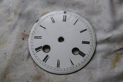 antique french clock enamel dial