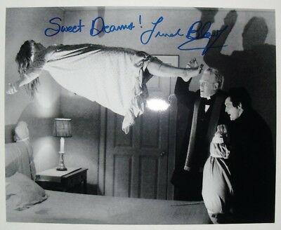 "EXORCIST movie photo signed by LINDA BLAIR ""Sweet Dreams"", with COA, 8""x10"""