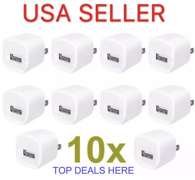 Wholesale LOT of 10x 1A USB Wall Charger AC Power Adapter