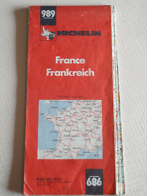 Carte Michelin N° 989 - 1/1.000 000 - 1982 - Etat correct