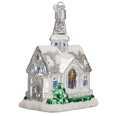 """""""Sparkling Cathedral"""" (20076)X Old World Christmas Glass Ornament w/ OWC Box"""