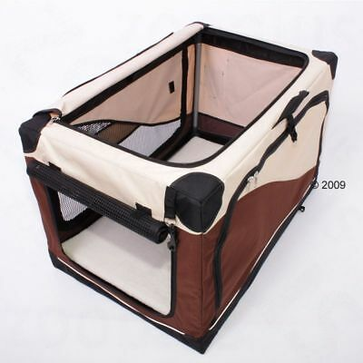 Lightweight Foldable Portable Pet Dog Transport home Carrier LARGE 91x61x58cm