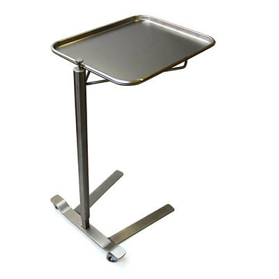 "New MCM-760 Thumb Controlled SS Mayo Stand Small 12.63"" x 19.13"" Tray"