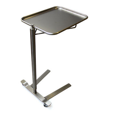 "New MCM-760 Thumb Controlled Stainless Steel Mayo Stand 12.63"" x 19.13"" Tray"