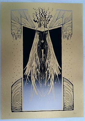 Malleus, STRIX - Gold version 50x70cm #/33 signed