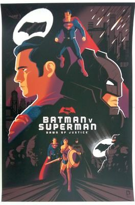 "Tom Whalen, Batman v. Superman, Regular 24""x36"" #/280"