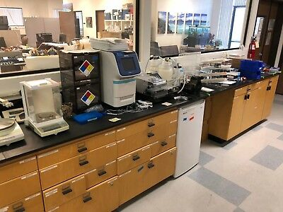 """Laboratory or work bench with drawers (36 x 215 X 30"""")"""