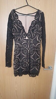eb972e1b75 LOVE TRIANGLE SIZE 8 lace black dress from asos - £15.00