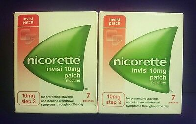 Nicorette  10mg  (  14 PATCHES  )  Srep 3  Nicotine Replacement Stop Smoking Aid