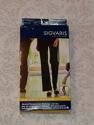 Sigvaris 500 Natural Rubber 40-50 mmHg OpenToe ThighHigh Compression Stocking S2