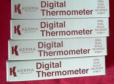 SIX (6) KMP Oral Dual Scale Digital Thermometers 413KM-00 (new)