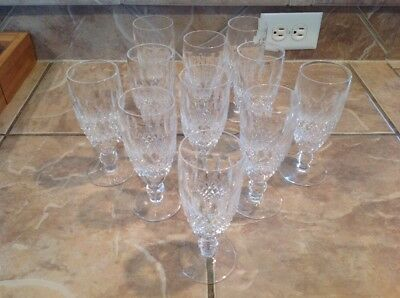"""GORGEOUS WATERFORD SHORT STEM CHAMPAGNE FLUTES SET OF 11 6"""" free shipping"""