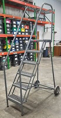 P. W. Platforms Rolling Safety 6-step ladder  #8629