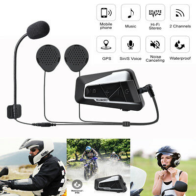 1 Pair T9S Bluetooth Motorcycle Bike Intercom Helmet Headset Communication Radio