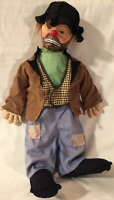 Image is loading 1950s-Emmett-Kelly-Weary-Willy-the-Clown-doll-
